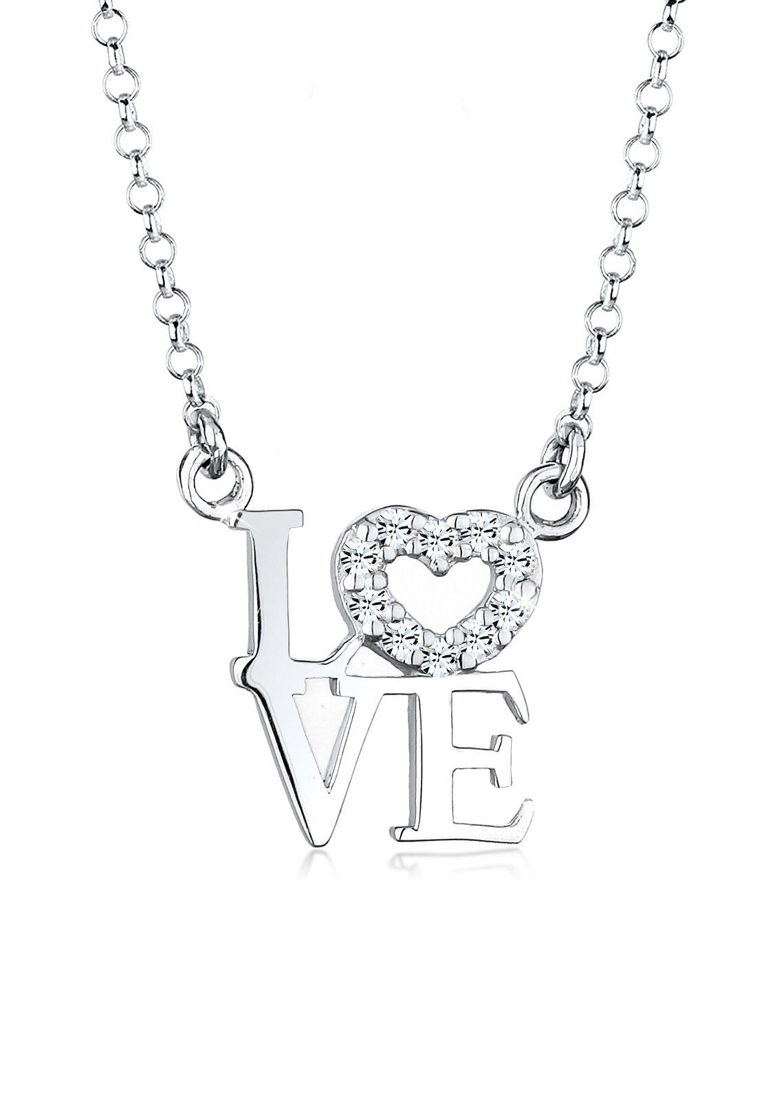 Elli Halskette »LOVE Swarovski® Kristalle 925 Sterling Silber«
