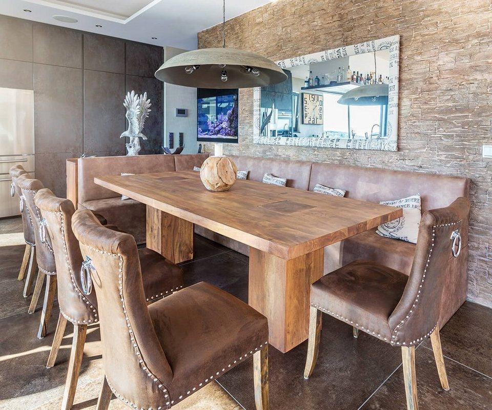 delife esszimmertisch blokk akazie natur 260x100 beine. Black Bedroom Furniture Sets. Home Design Ideas