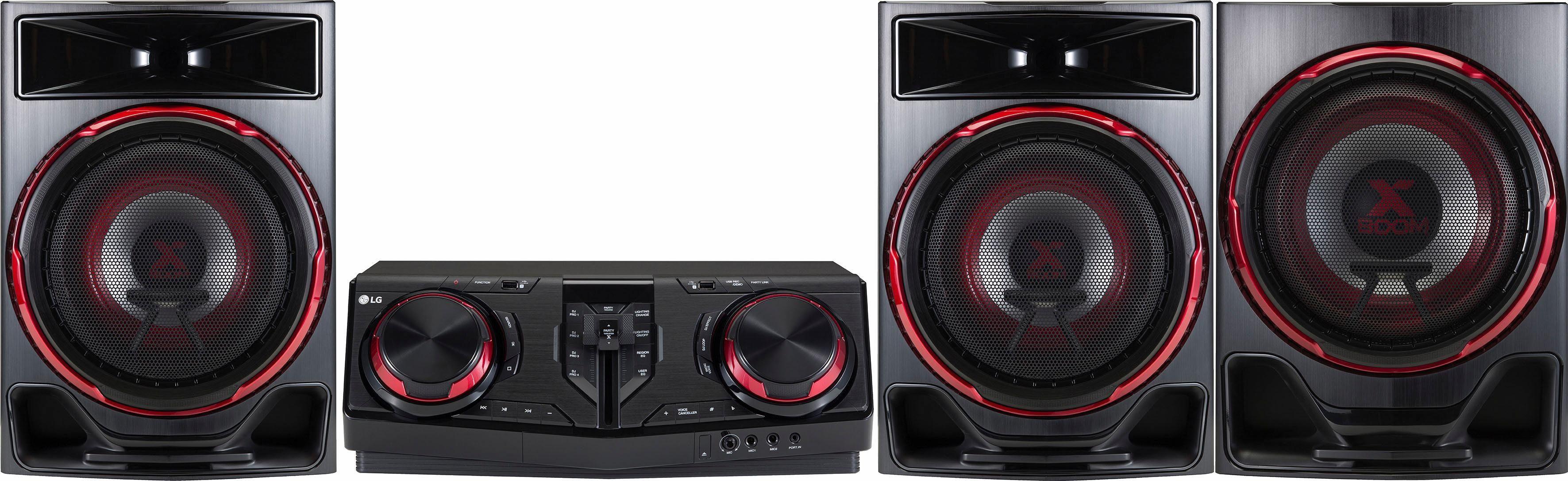LG CJ88 Stereoanlage, Bluetooth, RDS, 2x USB
