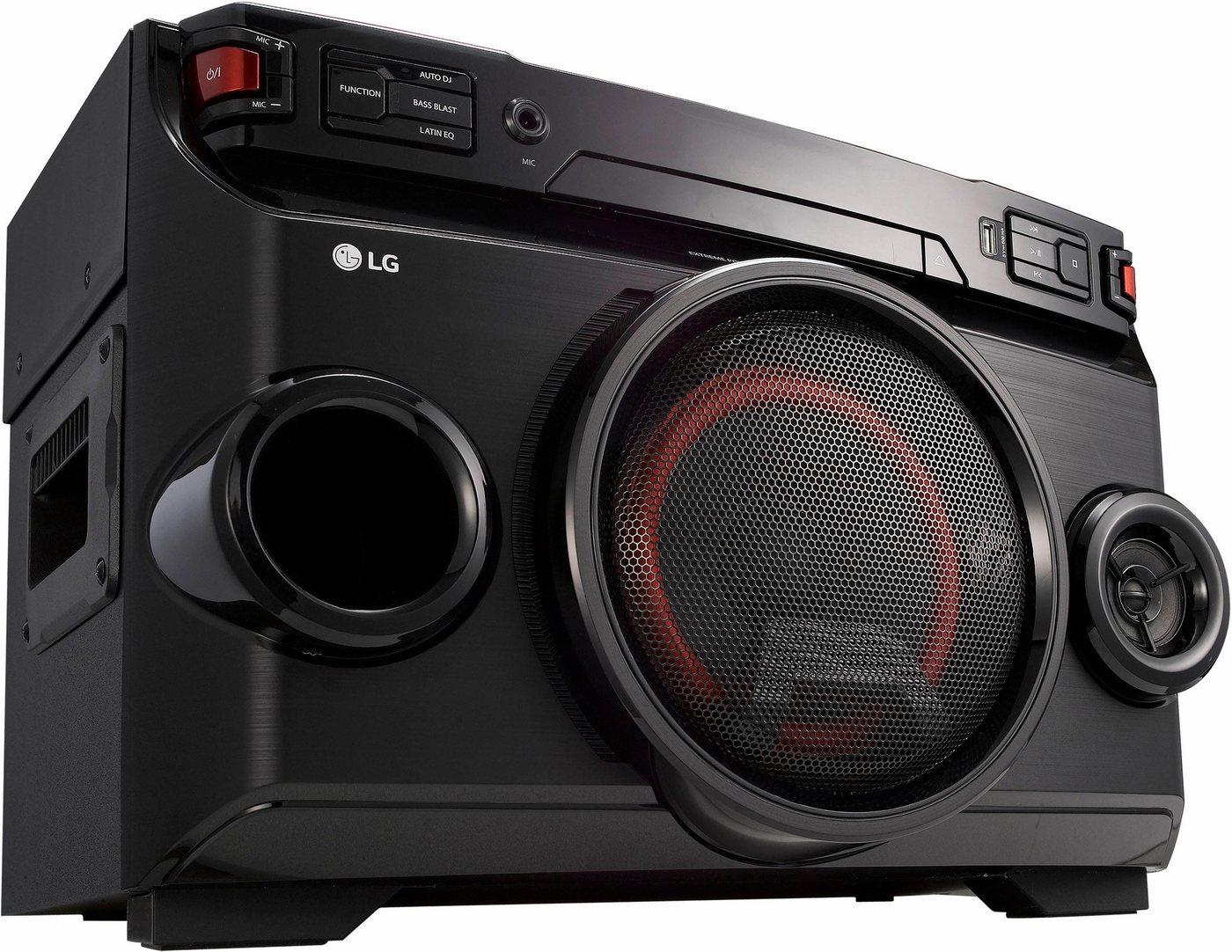 LG OM4560 Stereoanlage, Bluetooth, RDS, 1x USB - Preisvergleich