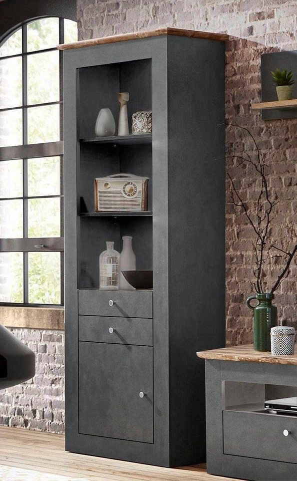 regal thea h he 200 cm mit 2 schubk sten kaufen otto. Black Bedroom Furniture Sets. Home Design Ideas