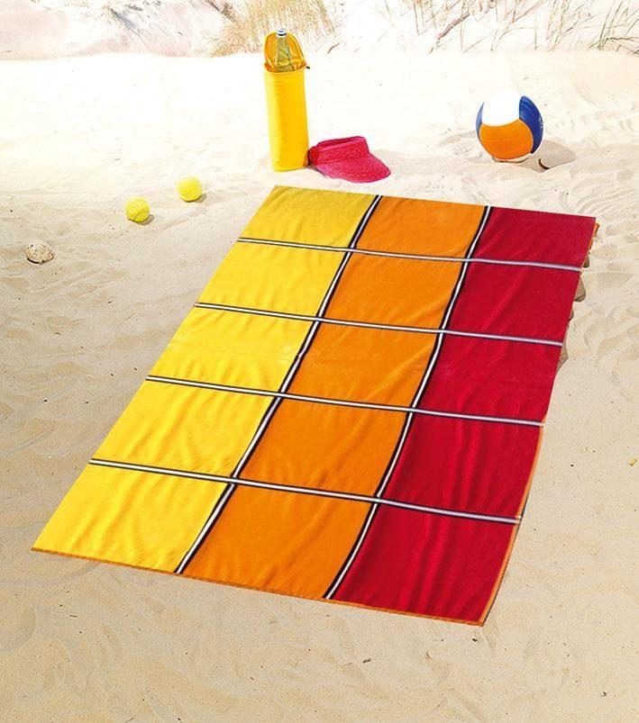 Strandtuch, Gözze, »Karo«, mit fröhlichen Farben