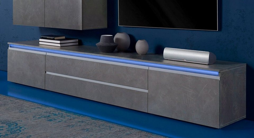 lowboard h ngend beton. Black Bedroom Furniture Sets. Home Design Ideas