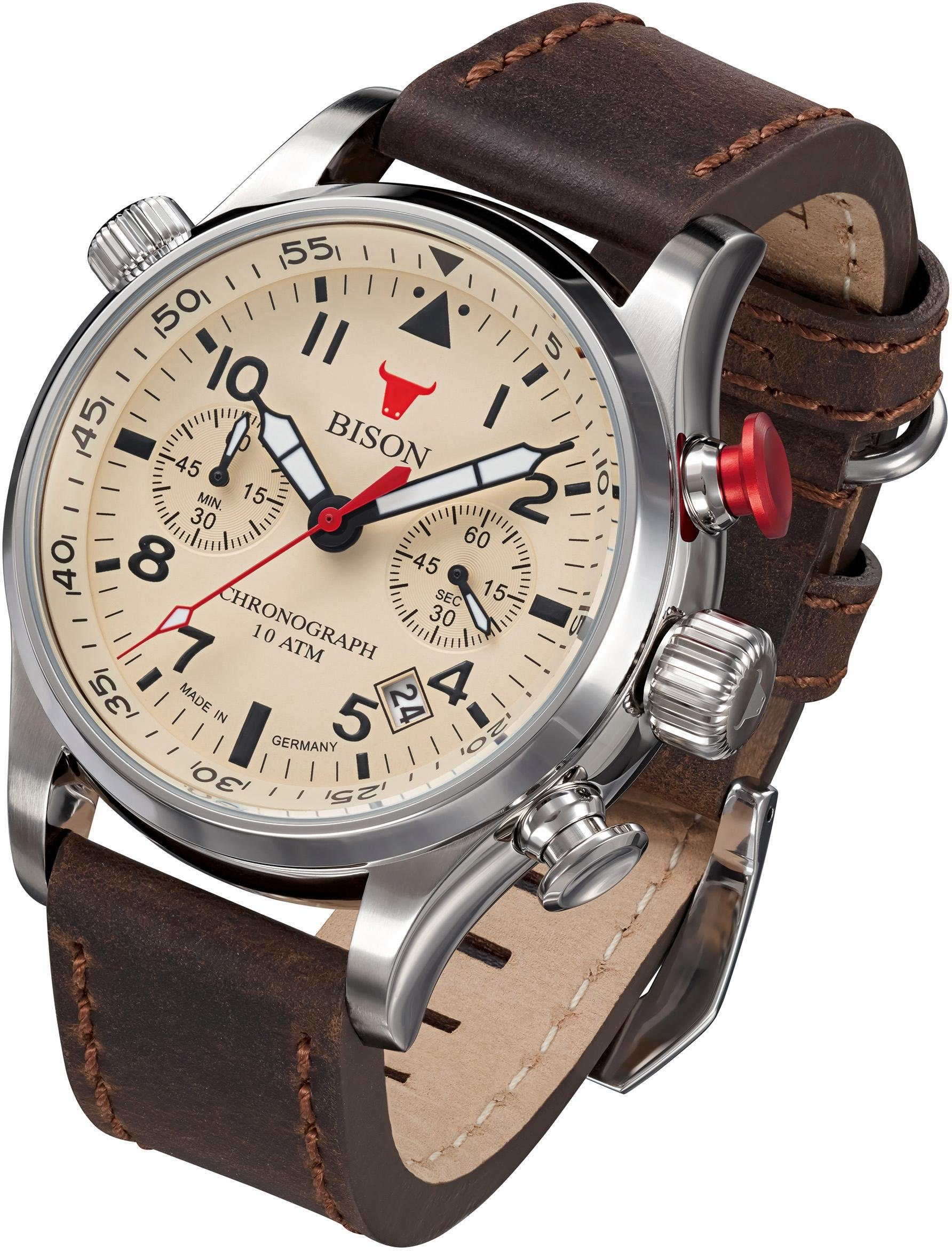 BISON Chronograph »Bison No. 7, BI0007CR«, Made in Germany