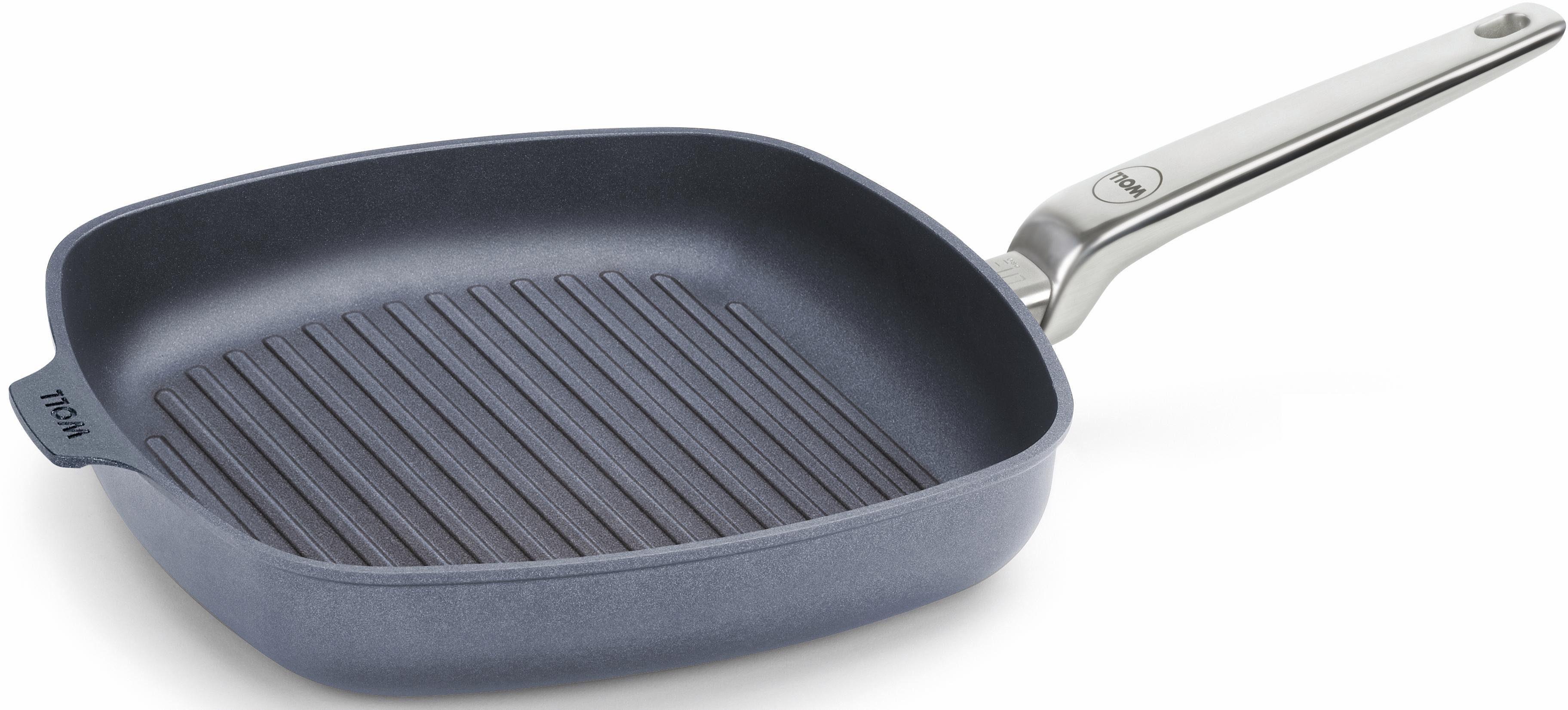 WOLL Steakpfanne mit Rillen, viereckig, Aluminium, Induktion, »DIAMOND LITE PRO«