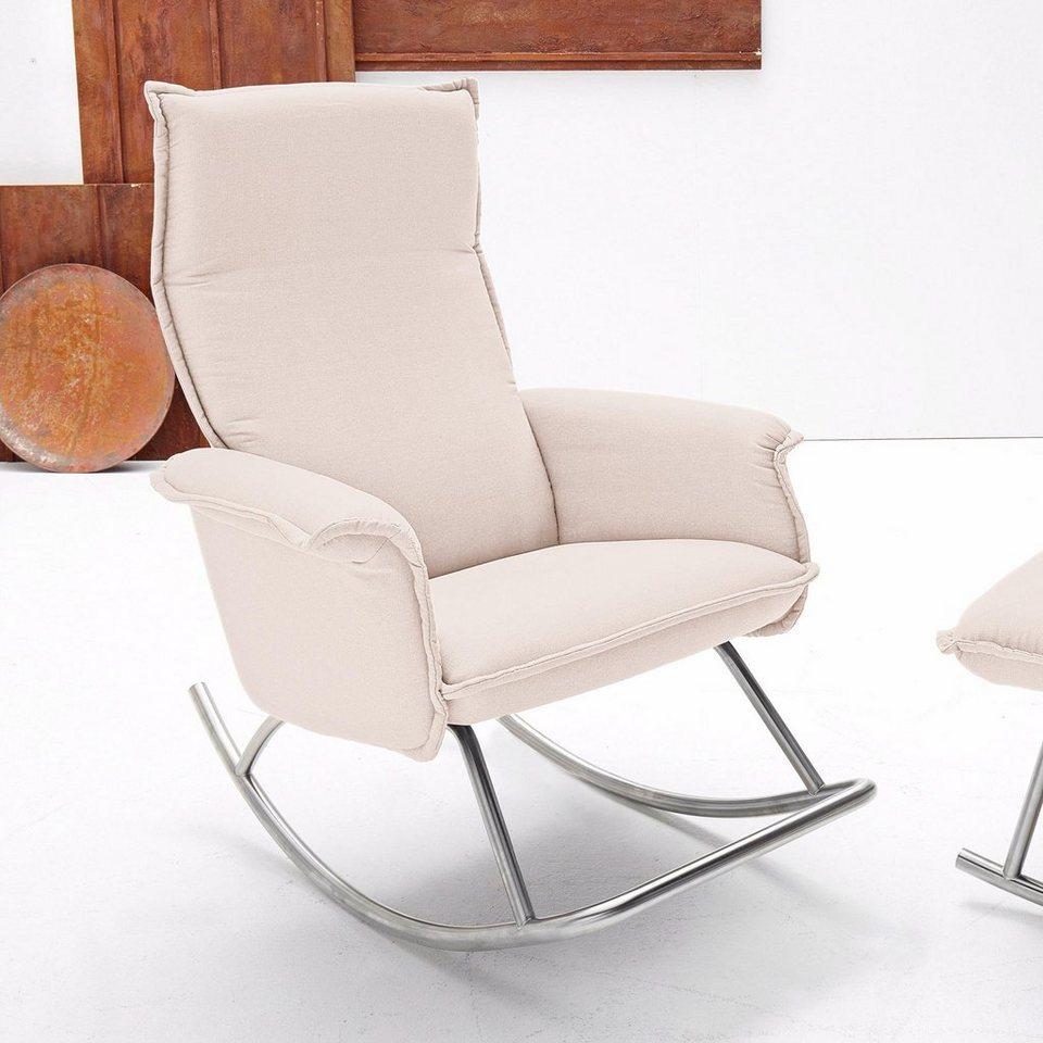 inosign design schaukelsessel mit edelstahlkufe inklusive kopfteilverstellung online kaufen otto. Black Bedroom Furniture Sets. Home Design Ideas