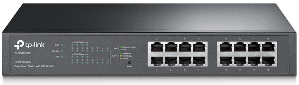 TP-Link PoE, »TL-SG1016PE 16-Port Gigabit Desktop POE«
