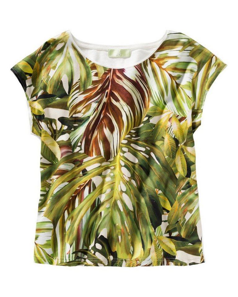 Brigitte von Schönfels T-Shirt mit Blätterdruck