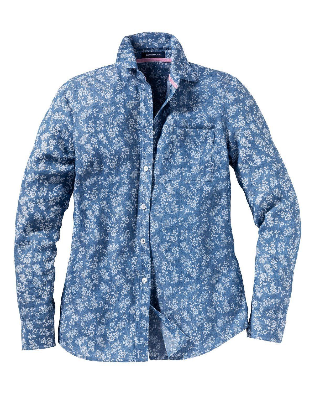 Highmoor Bluse mit Blumendruck - broschei