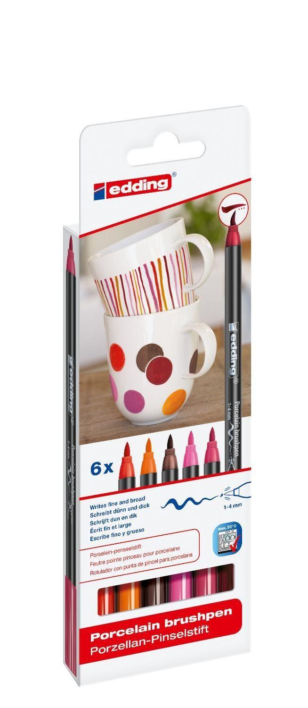 "edding Porzellan-Pinselstift 4200 ""Warm"""