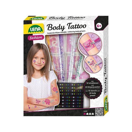Lena® Body Tattoo Stifte, 4 Stück