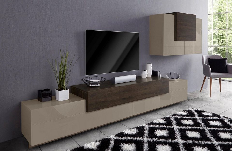 tecnos wohnwand asia 2 tlg online kaufen otto. Black Bedroom Furniture Sets. Home Design Ideas