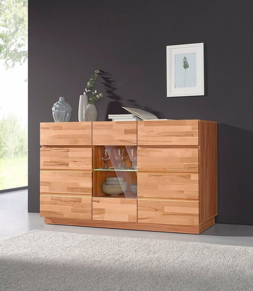 sideboard breite 140 cm mit 2 schubk sten kaufen otto. Black Bedroom Furniture Sets. Home Design Ideas