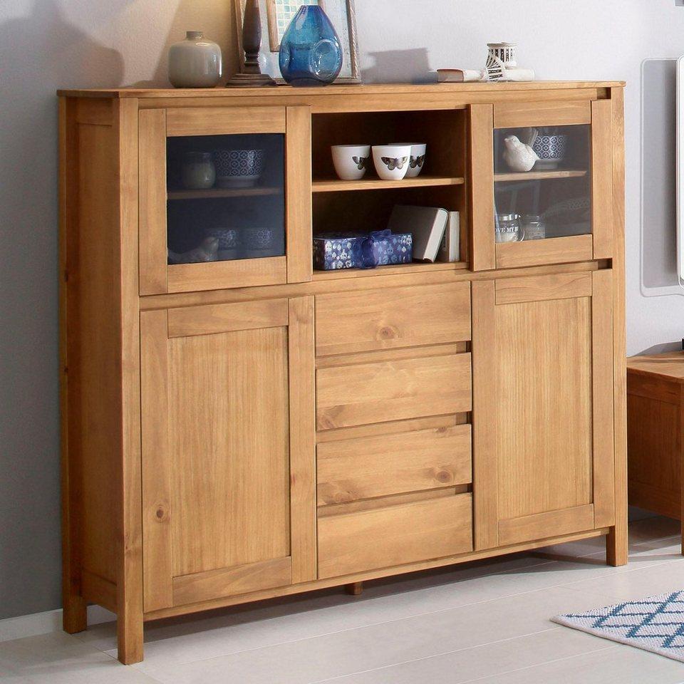 home affaire highboard kubo breite 130 cm in zeitlosem design online kaufen otto. Black Bedroom Furniture Sets. Home Design Ideas