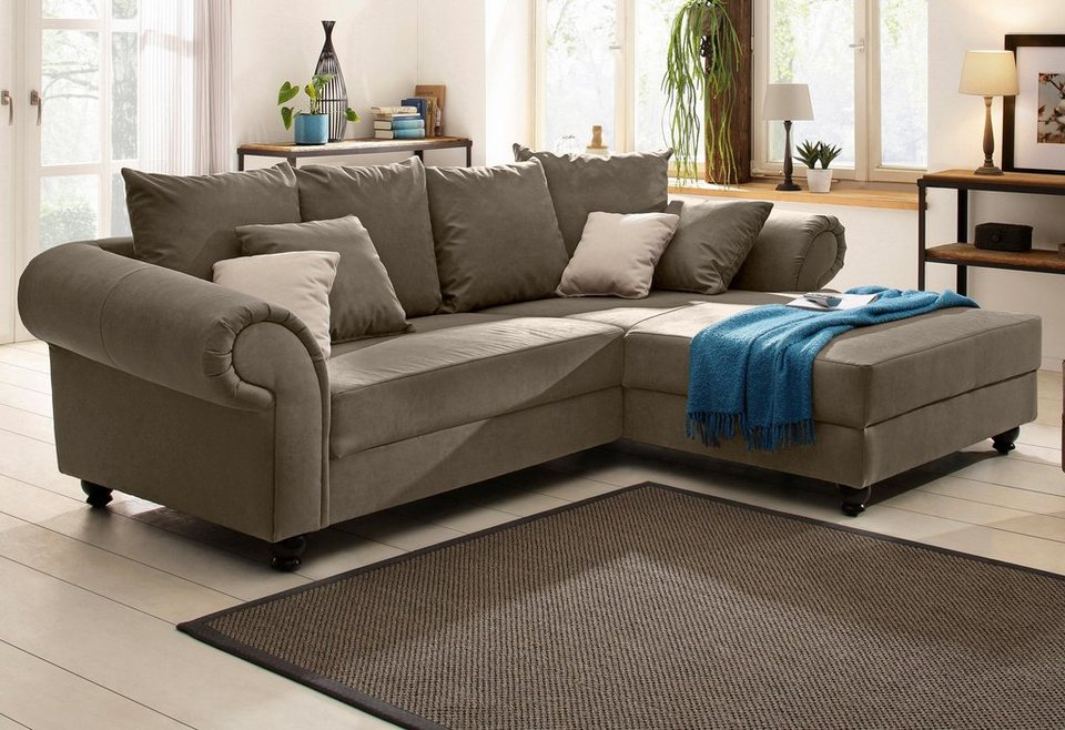 home affaire polsterecke king henry mit federkern. Black Bedroom Furniture Sets. Home Design Ideas