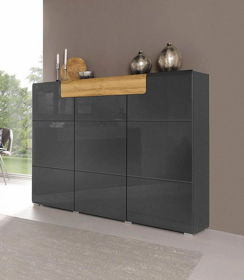 sideboard anthrazit great neu led highboard sideboard. Black Bedroom Furniture Sets. Home Design Ideas