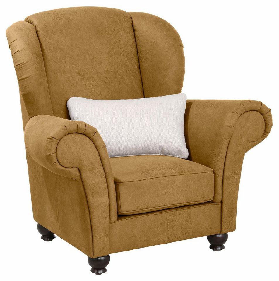 home affaire sessel king henry mit legerer polsterung. Black Bedroom Furniture Sets. Home Design Ideas