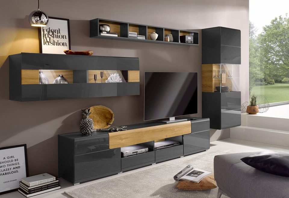 wohnwand toledo 4 tlg online kaufen otto. Black Bedroom Furniture Sets. Home Design Ideas