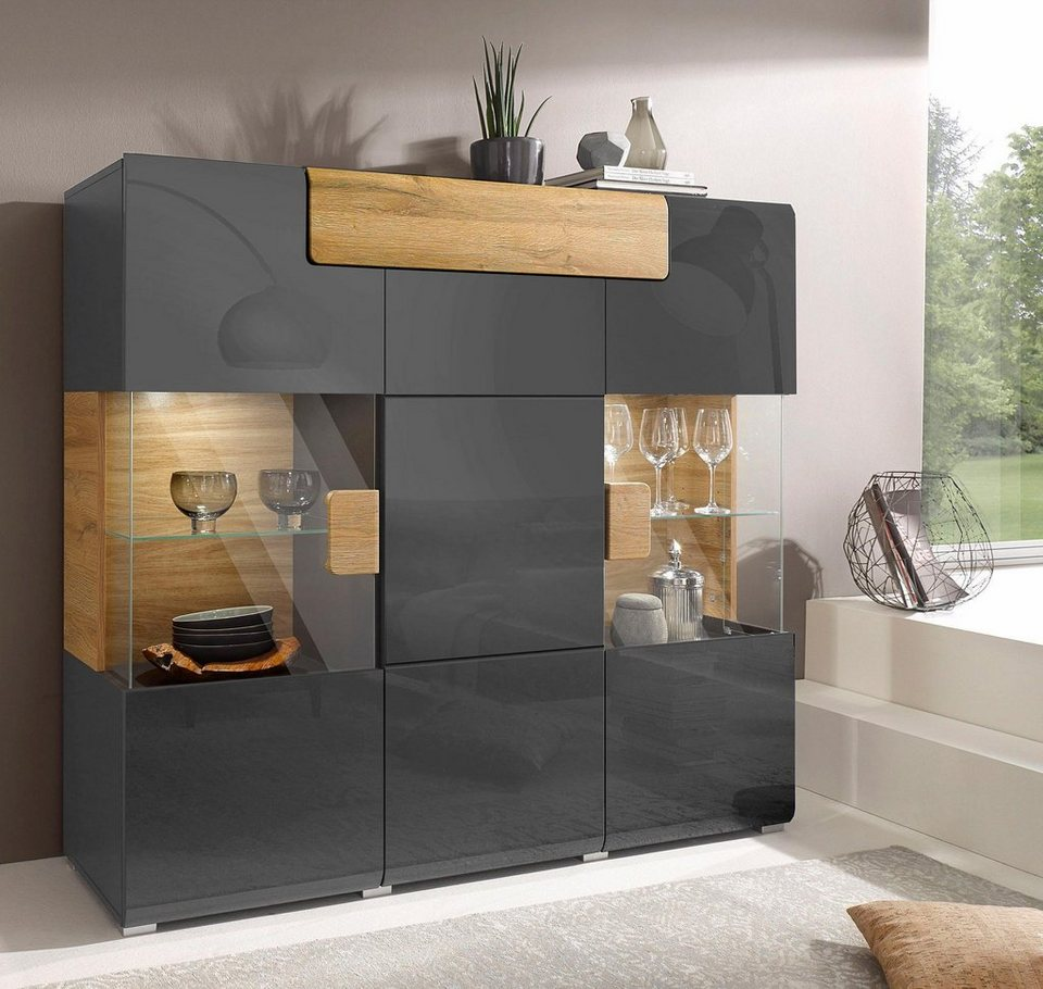 highboard toledo breite 147 4 cm online kaufen otto. Black Bedroom Furniture Sets. Home Design Ideas