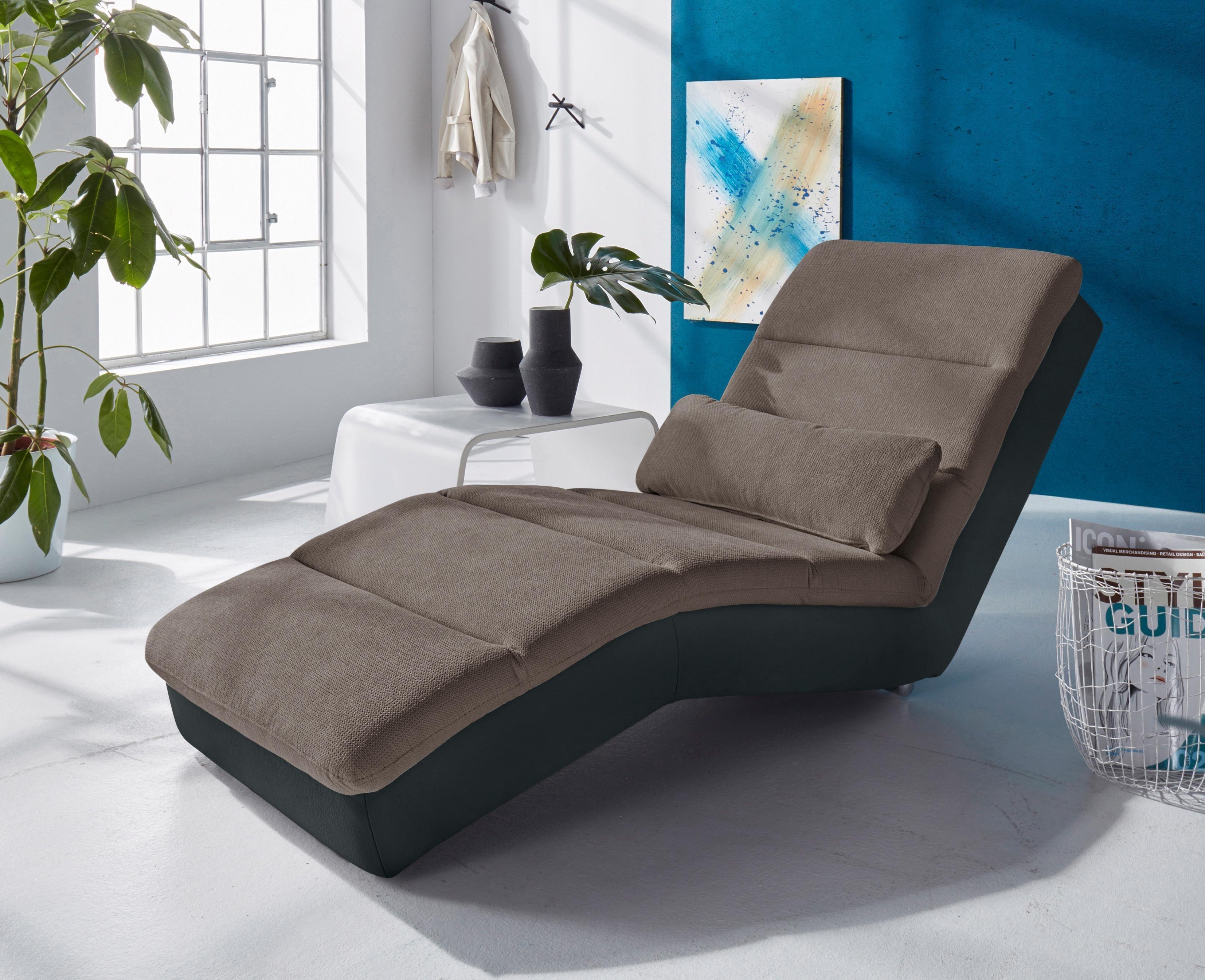 Bruno Banani Relaxliege | Wohnzimmer > Sessel > Relaxliegen | Kunstleder - Microfaser - Metall | Bruno Banani