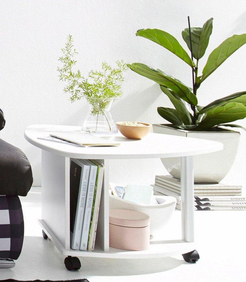 couchtisch auf rollen mit ablageboden und zeitungsfach online kaufen otto. Black Bedroom Furniture Sets. Home Design Ideas