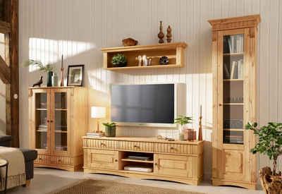 Home Affaire 3 Teilige Wohnwand «Teresa», Bestehend Aus 1 Vitrine Klein,