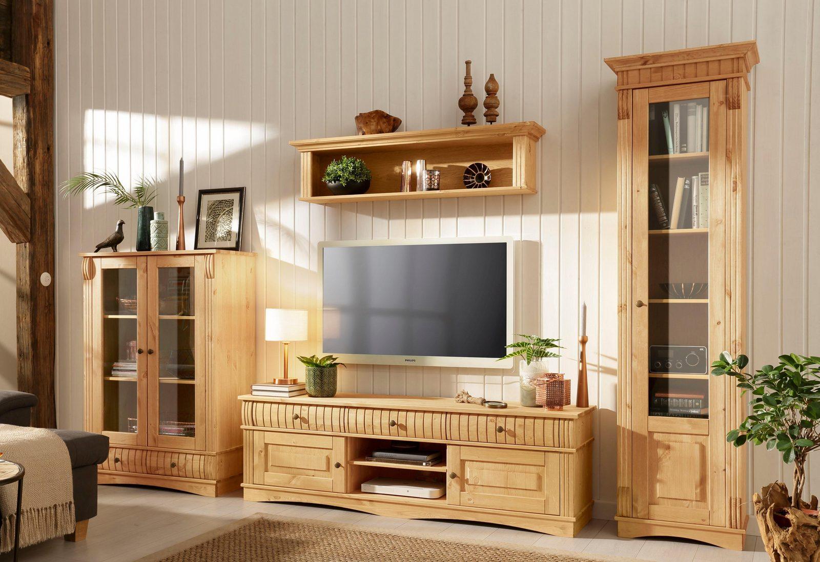 Home affaire 3-teilige Wohnwand «Teresa», bestehend aus 1 Vitrine klein, groß, Lowboard jetztbilligerkaufen