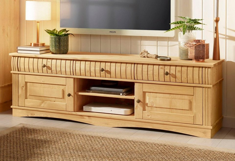 home affaire tv lowboard teresa breite 160 cm otto. Black Bedroom Furniture Sets. Home Design Ideas