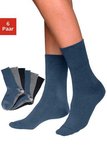 Rogo Socken (6 Paar) mit Komfortbund