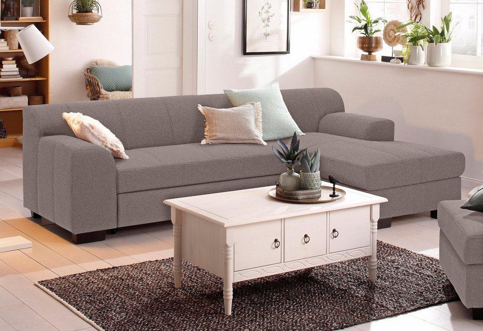 home affaire ecksofa falk mit federkern und wahlweise mit bettfunktion und bettkasten online. Black Bedroom Furniture Sets. Home Design Ideas