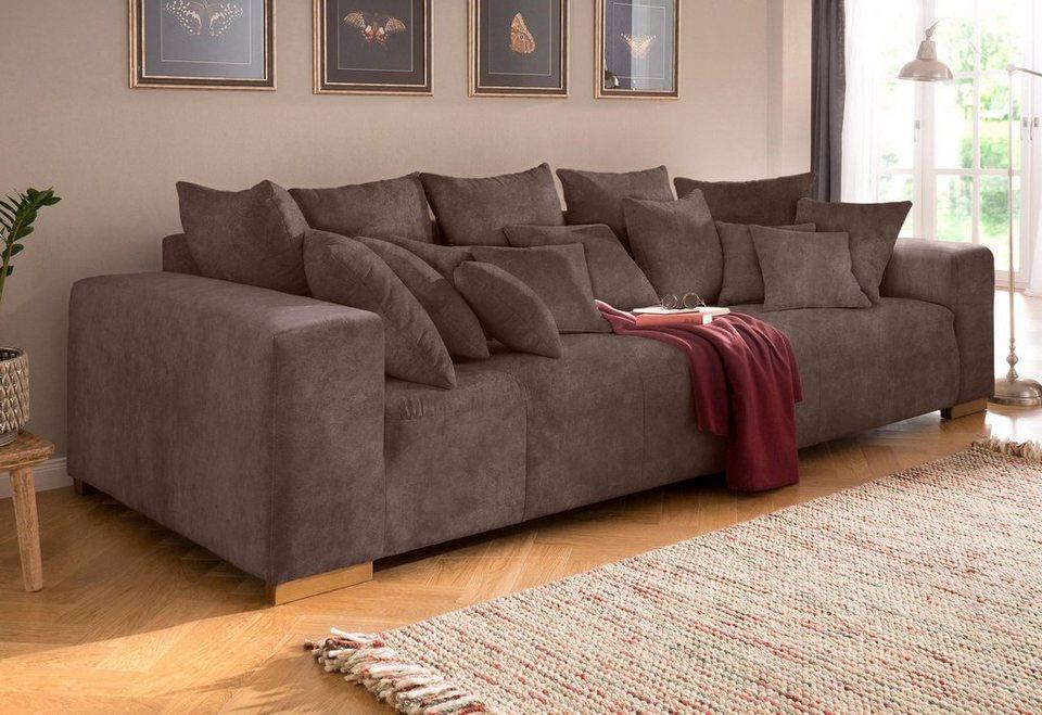 Home affaire Big-Sofa »Neapel«, mit vielen losen Kissen, in 2 ...
