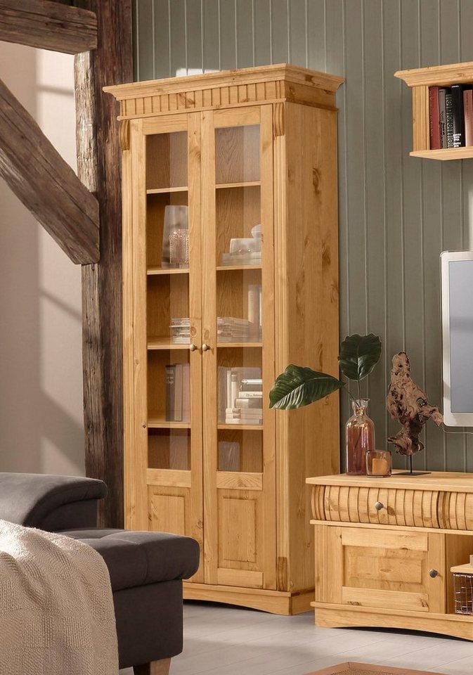 home affaire vitrine teresa mit 2 glast ren h he 193 cm online kaufen otto. Black Bedroom Furniture Sets. Home Design Ideas