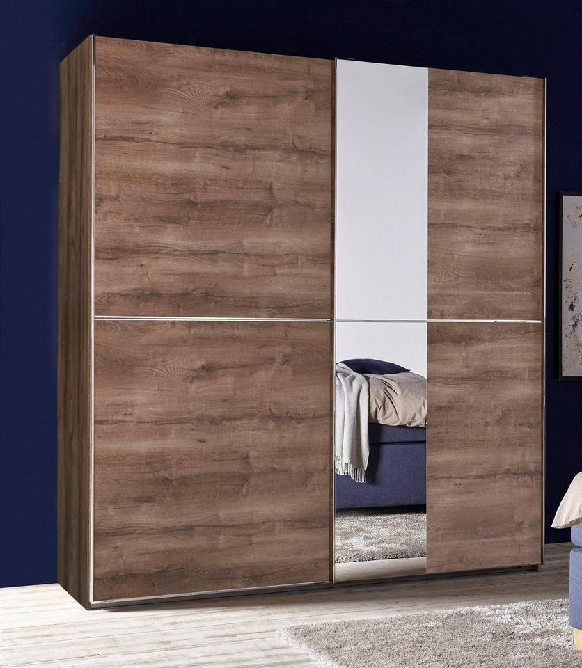bruno banani schwebet renschrank mit spiegel und chromleisten online kaufen otto. Black Bedroom Furniture Sets. Home Design Ideas