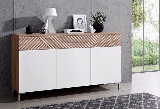 INOSIGN Sideboard »Greta«, mit schönen Fräsungen an den Schubladenfronten, Breite 147 cm