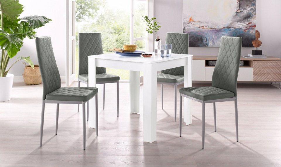 Essgruppe, Set, 5 tlg, mit Tisch in Weiß, Breite 80 cm online kaufen   OTTO