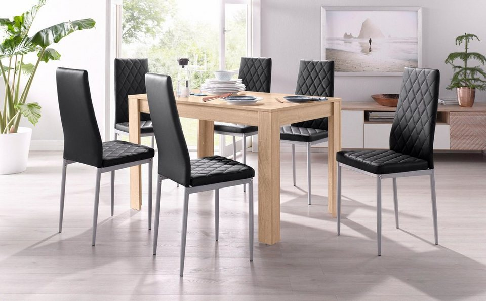 essgruppe mit tisch in eichefarben s gerau breite 120 cm. Black Bedroom Furniture Sets. Home Design Ideas