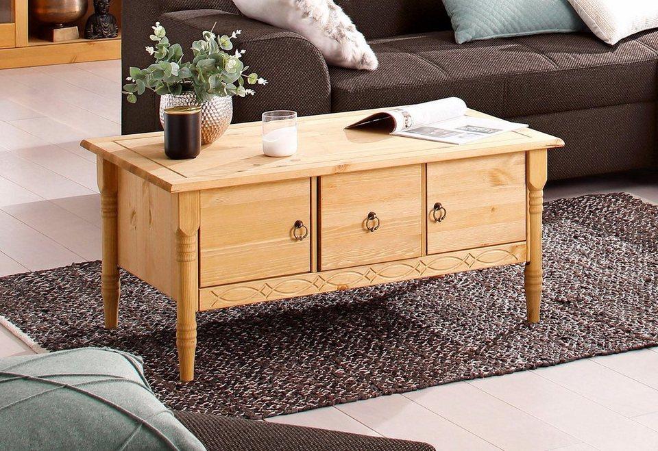 Home affaire Couchtisch »Indra«, mit 2 Holztüren und 1 Schublade und in 3  Farben online kaufen | OTTO