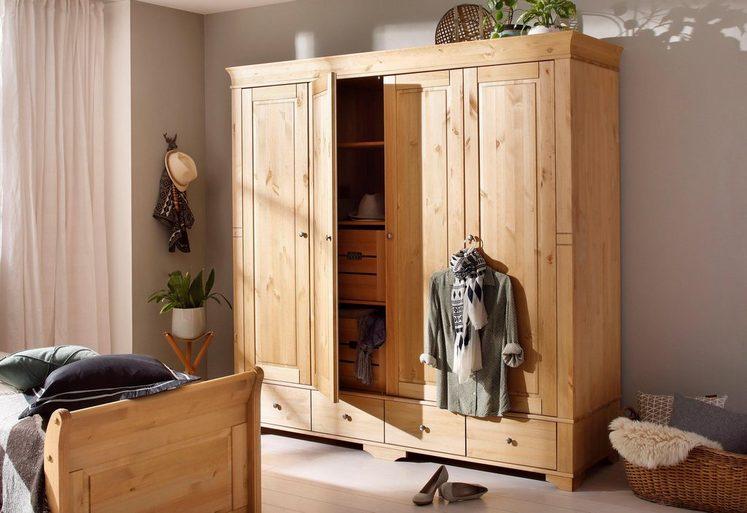 Home affaire Kleiderschrank »Lotta«, wahlweise 2-, 3-, 4-, oder 5-geteilt, in 2 Farben
