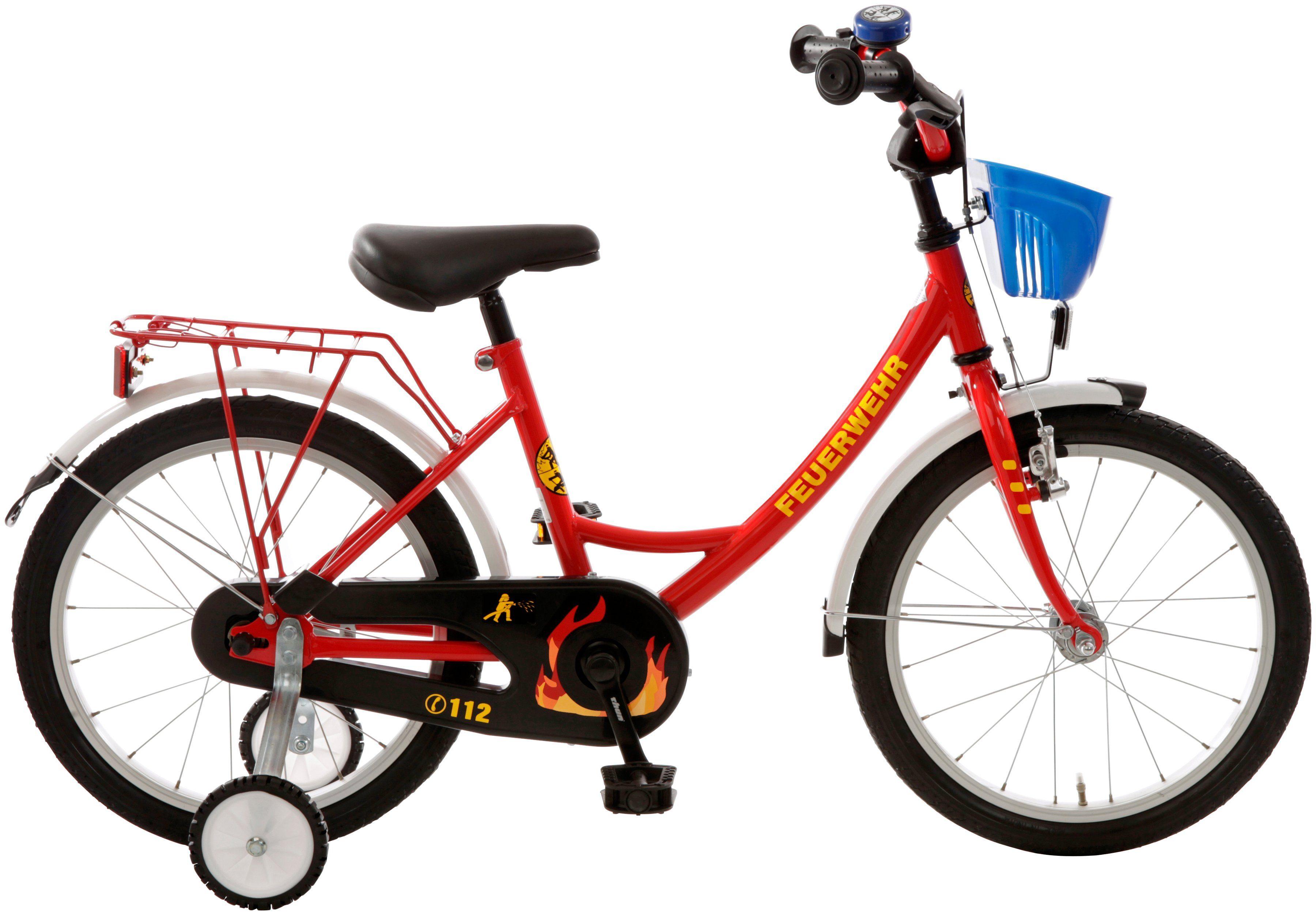 CYCLES4KIDS Kinderfahrrad »Feuerwehr «, 18 Zoll, 1 Gang, Rücktrittbremse