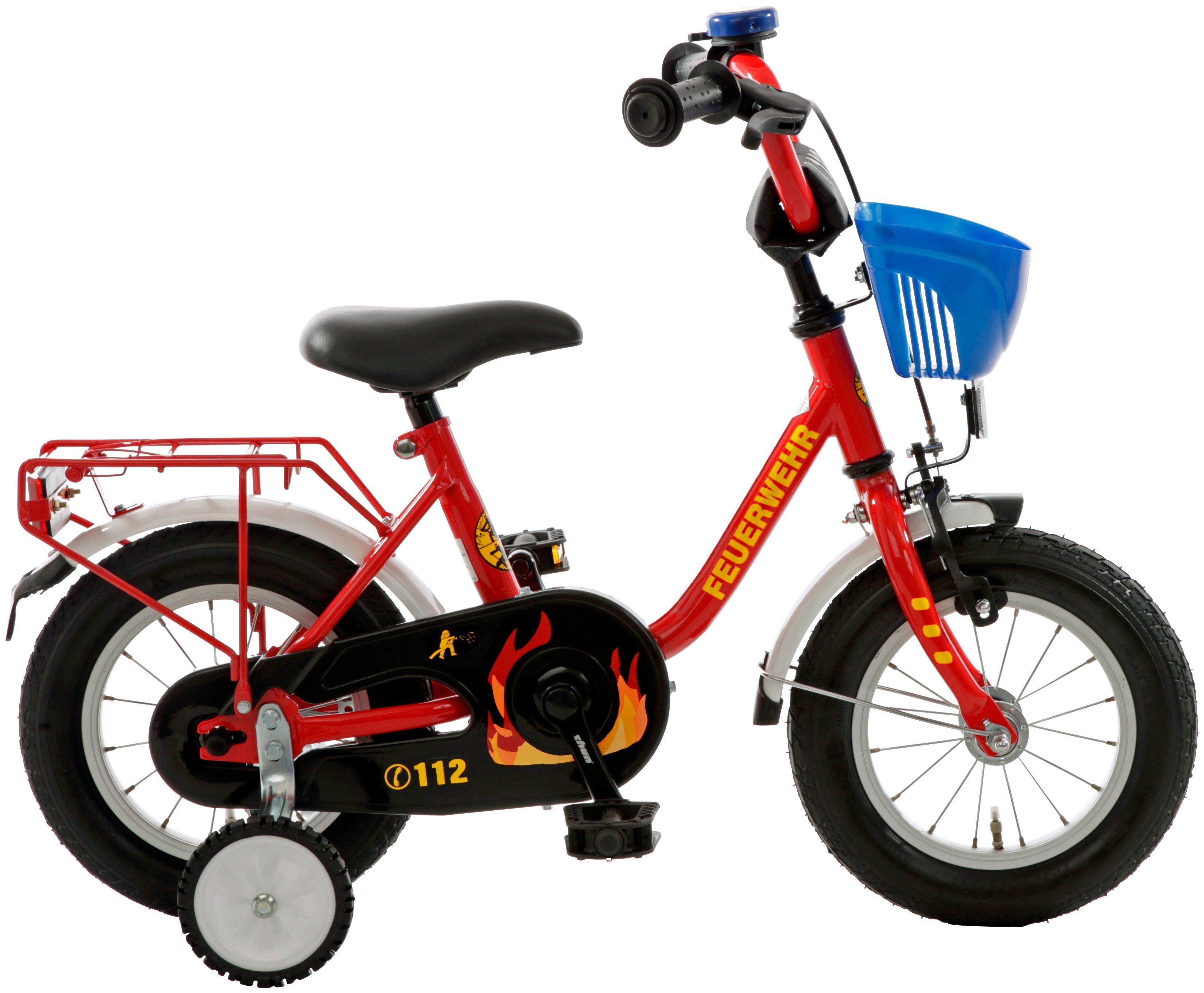 CYCLES4KIDS Kinderfahrrad »Feuerwehr «, 12,5 Zoll, 1 Gang, Rücktrittbremse