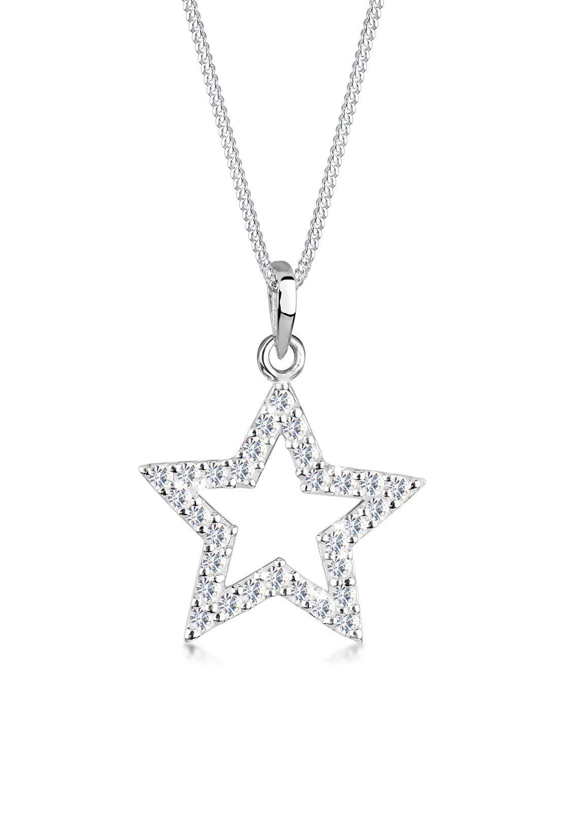 Elli Halskette »Stern Swarovski® Kristalle 925 Sterling Silber«