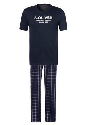 s.Oliver Bodywear Pižama su languotas Pižaminės kelnės