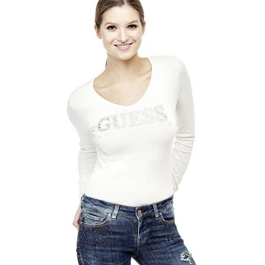Guess PULLOVER LOGO MIT STRASS