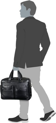 Piquadro Briefcase Mode Laptoptasche Expandable