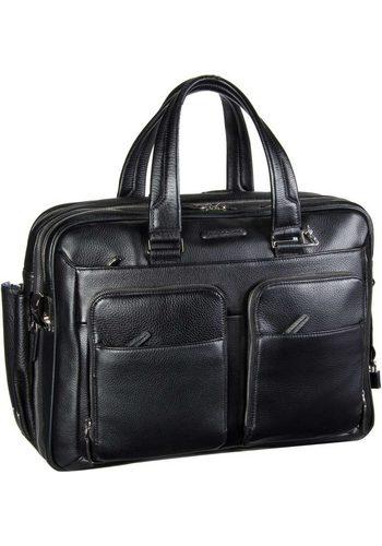 Damen Piquadro Aktentasche Modus Laptoptasche Erweiterbar schwarz | 08024671389037