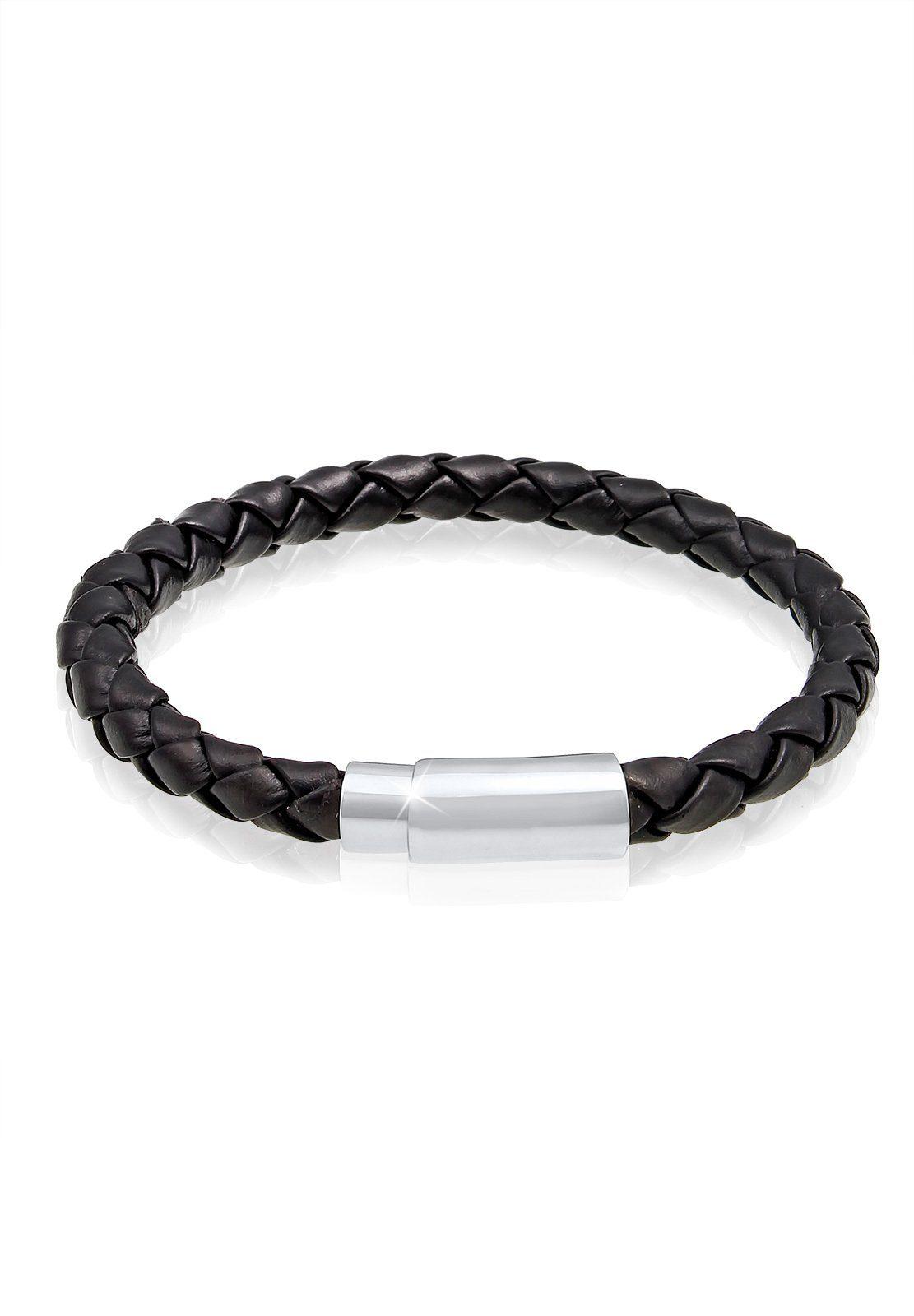 Paulo Fanello Armband »Echtleder Magnet Basic Cool 925 Sterling Silber«