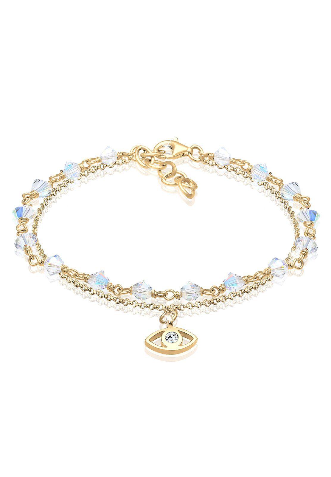 Elli Armband »Evil Eye Talisman Swarovski® Kristalle 925 Silber«