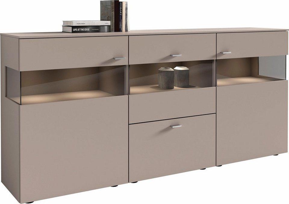 netfurn by gwinner sideboard anzio lack fango 3 t rig. Black Bedroom Furniture Sets. Home Design Ideas