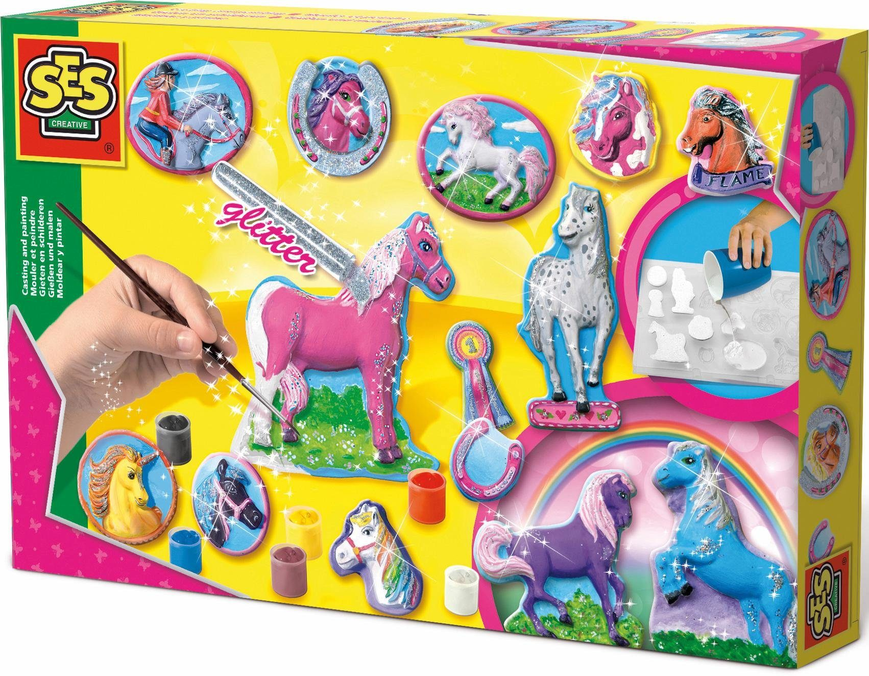 SES Creative Gipsfiguren Bastelset, »Pferde gießen und anmalen«