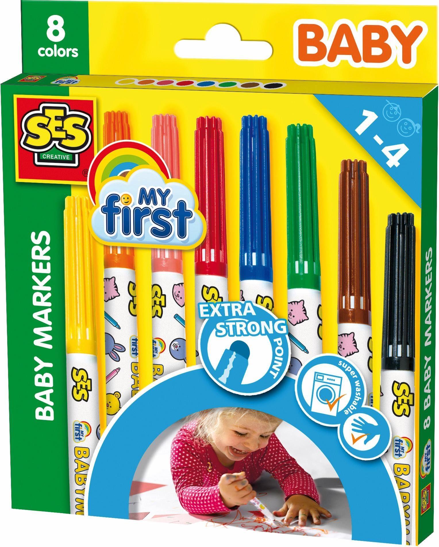 SES Creative Malstifte, »Baby Marker 8 Farben My first«